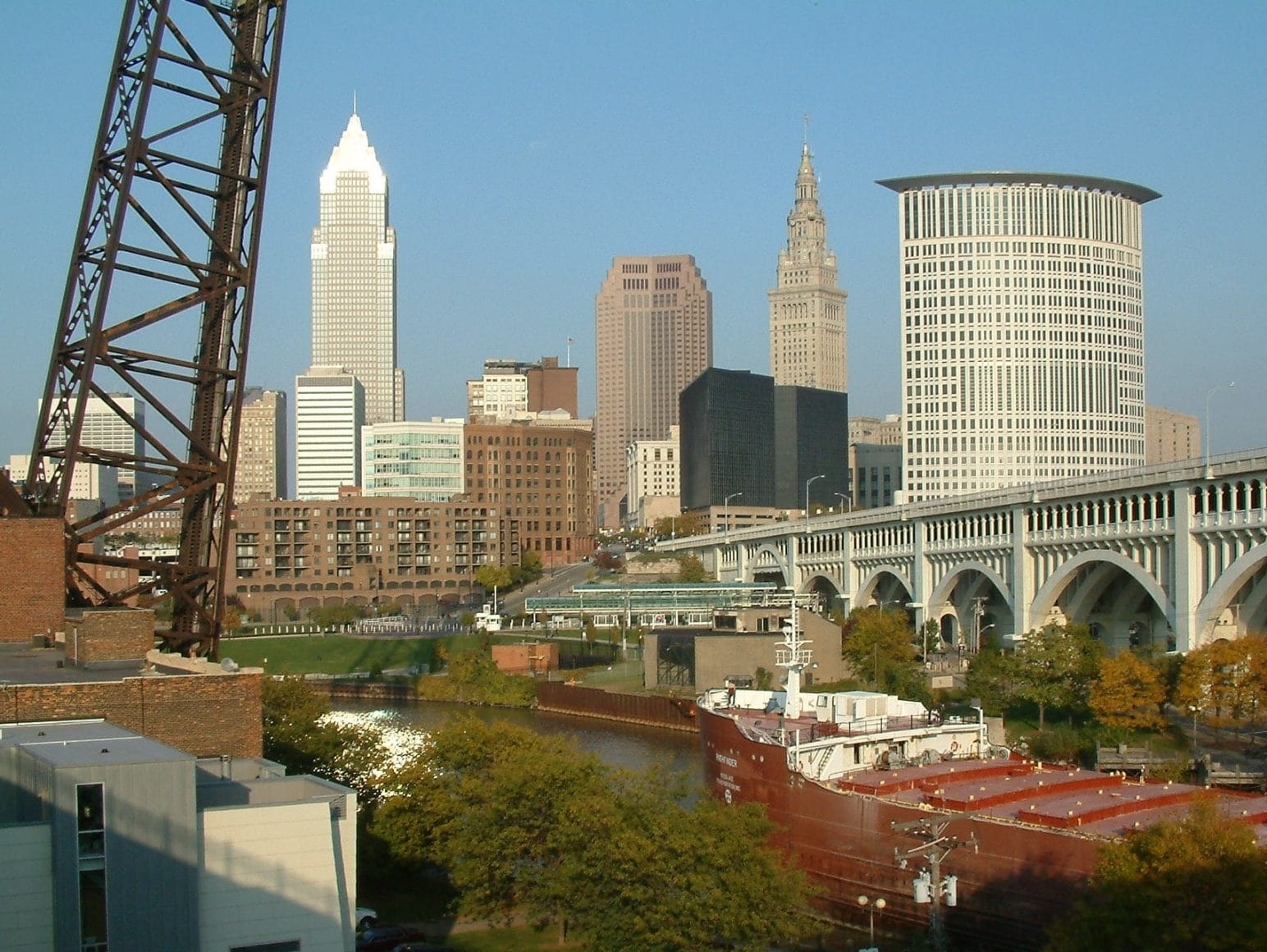 Cleveland skyline from Superior viaduct