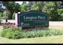 Sign for Langston Place Care Facility
