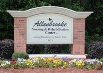 Allenbrooke Nursing home sign