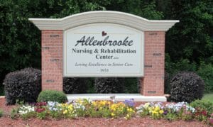 Allenbrooke Nursing home sign