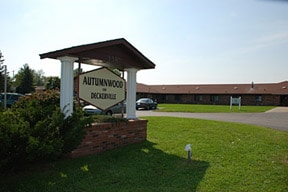 Nursing home sign for Autumnwood in MI